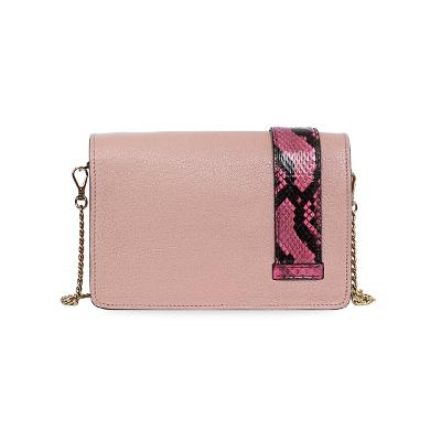 embellished watersnake-trimmed bag